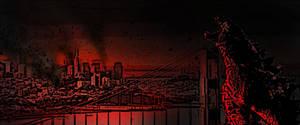 Godzilla fan banner