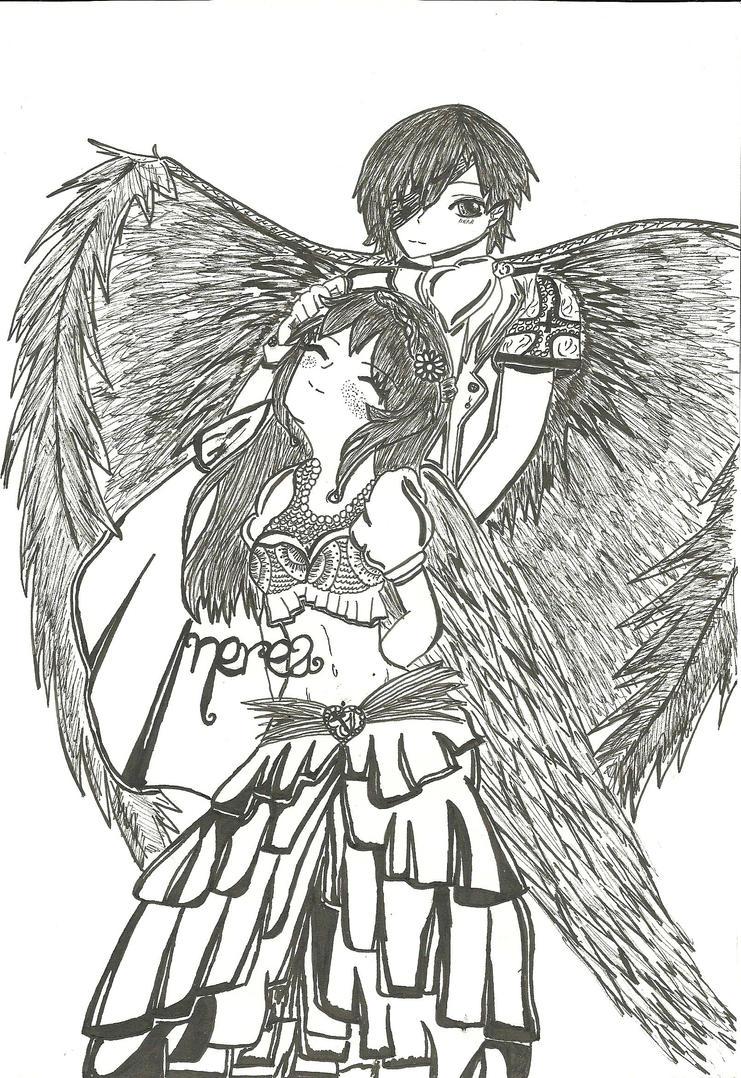 .:Je serai votre ange dans ce monde:. by darkearose