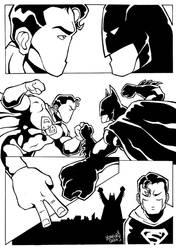 Superman VS Batman by LorenzoSabia