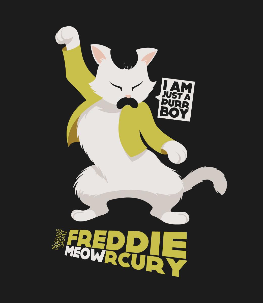 Freddie Meowrcury by LorenzoSabia