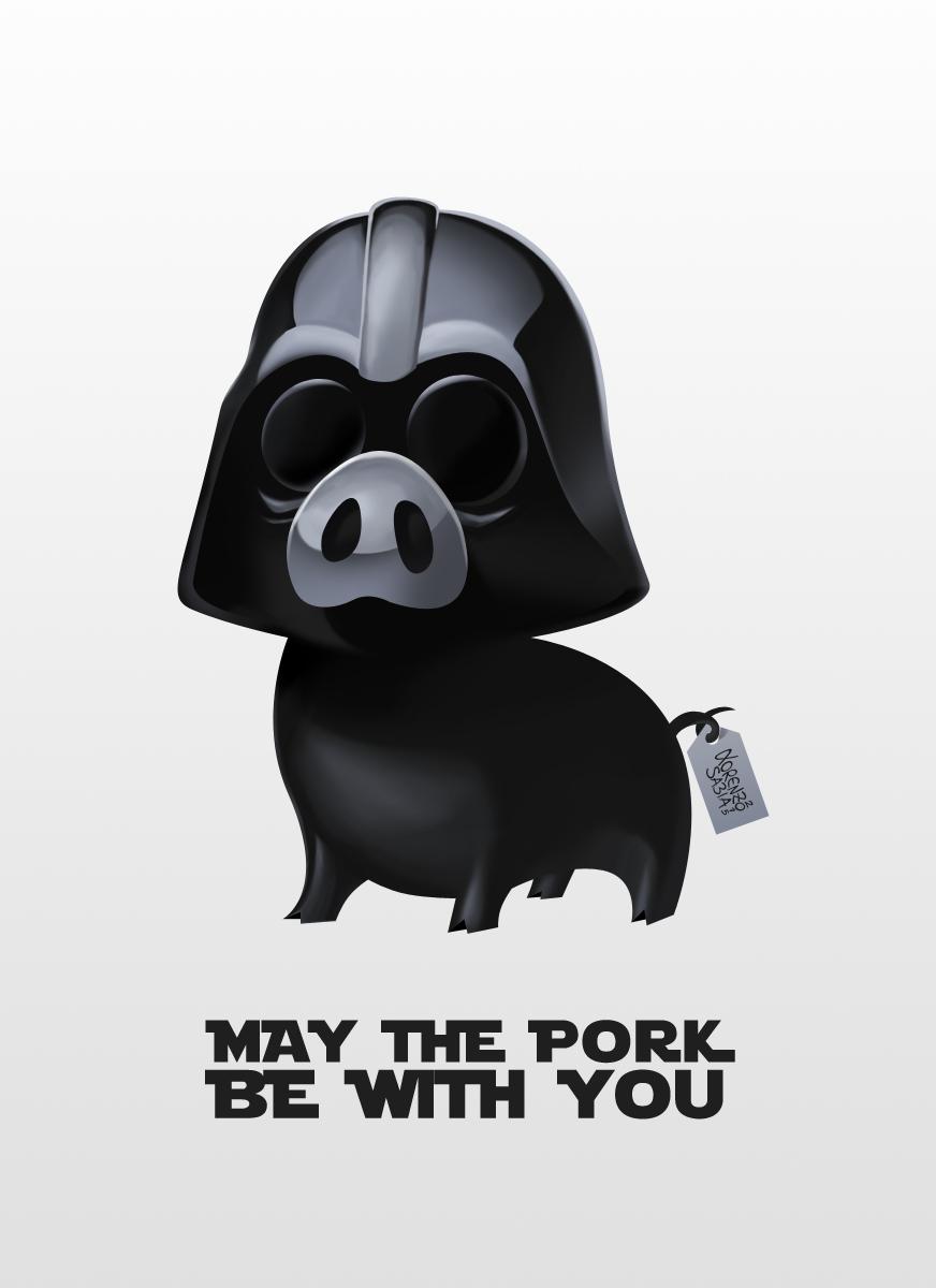 Star Wars: Pig Darth Vader by LorenzoSabia