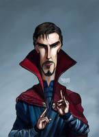 Doctor Strange Caricature Color by LorenzoSabia