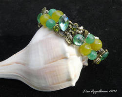 Green and Yellow Flower Bracelet