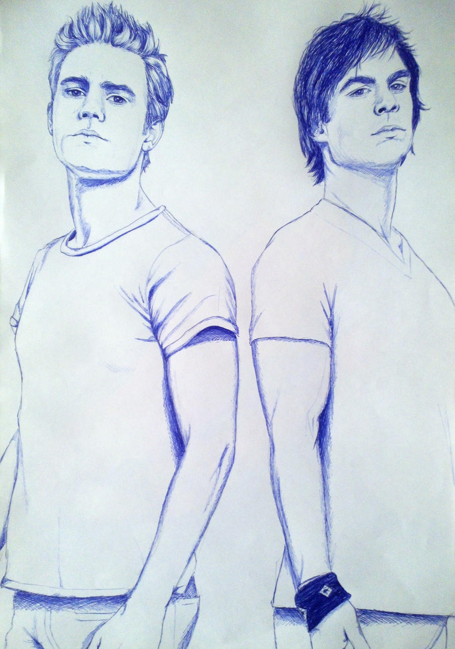 The Vampire Diaries Stefan And Damon By Missheroes94 On Deviantart