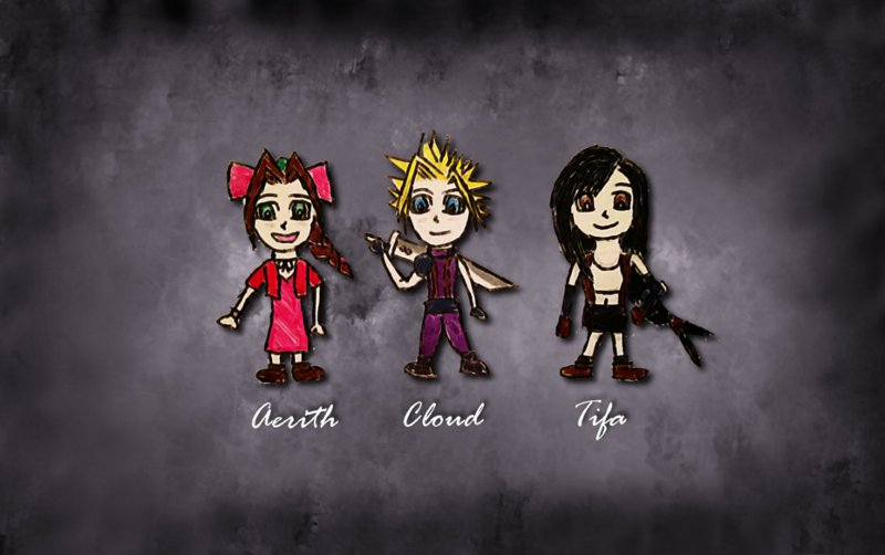Final Fantasy VII Cartoon Style by lulujweston