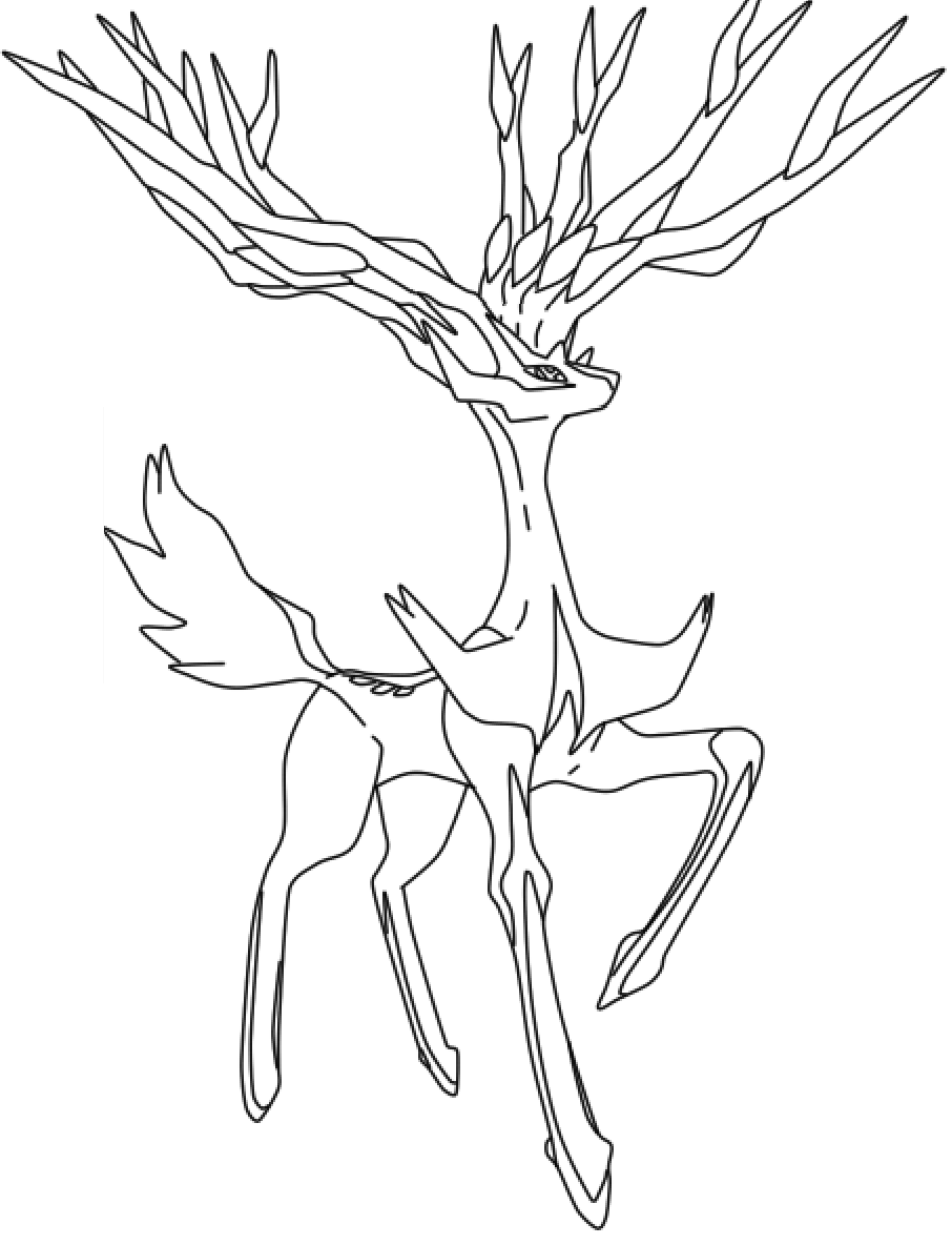 Xerneas la free by wolve girl on deviantart for Pokemon yveltal coloring pages