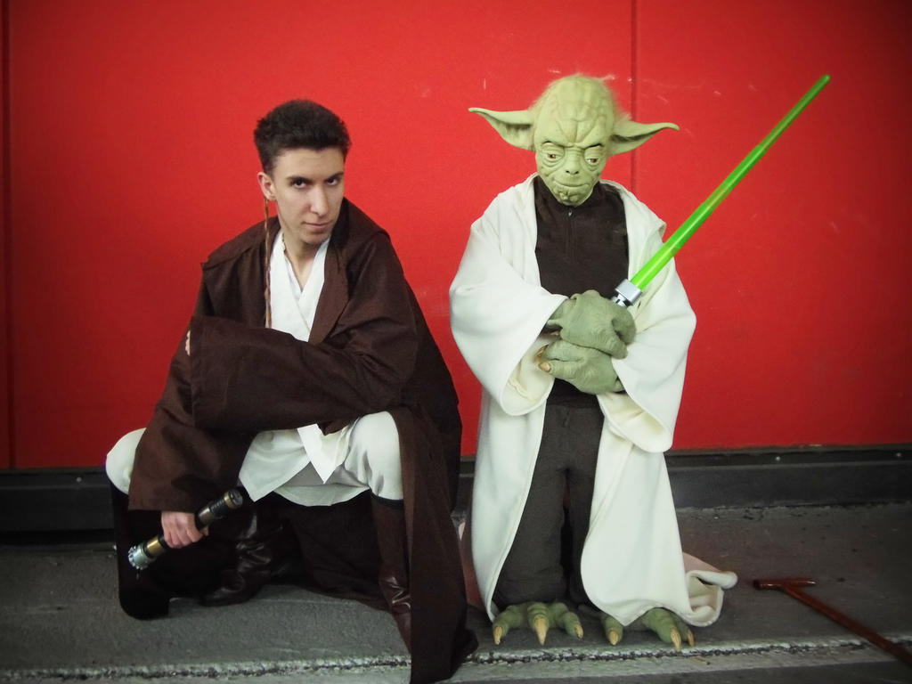yoda and obi wan cosplay by AleDiri