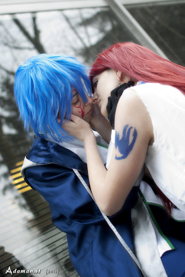 Gerard and Erza by AleDiri