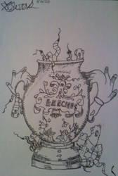 Leeches in a jar by Seras22