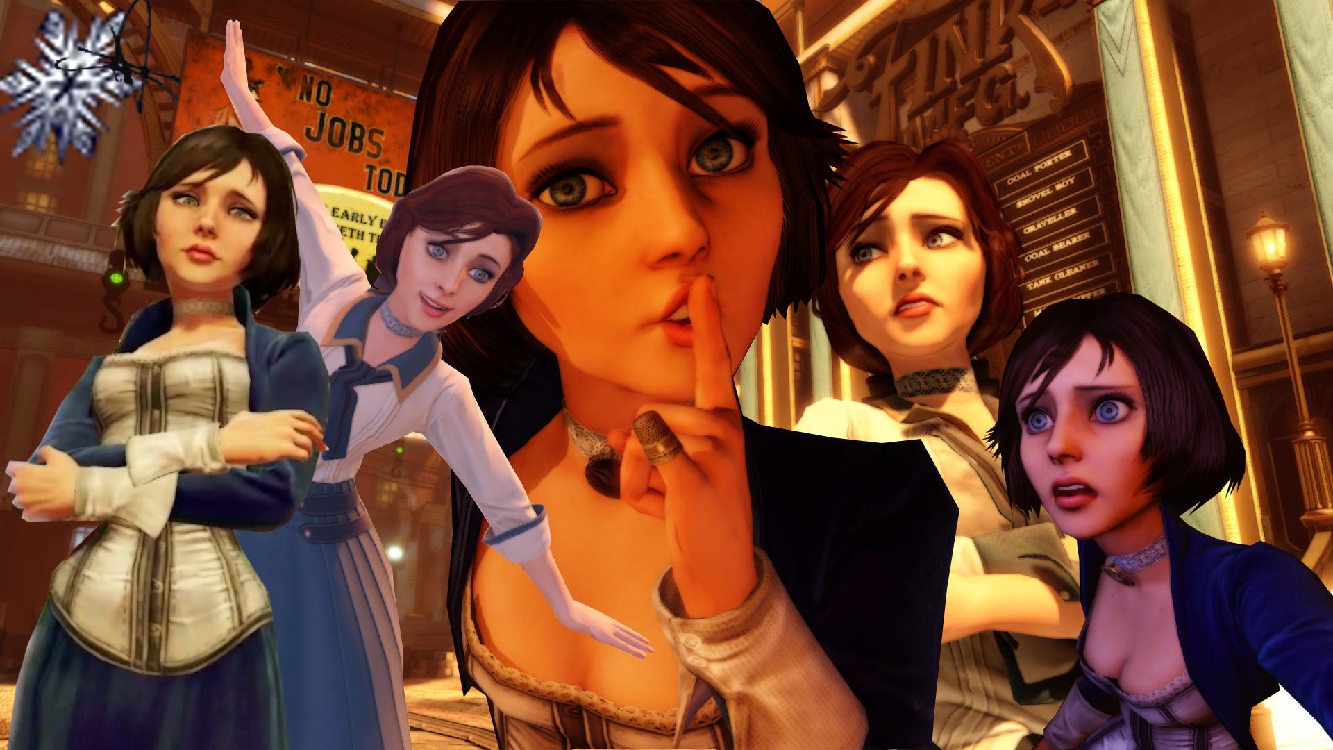 Elizabeth Bioshock Infinite by Seras22