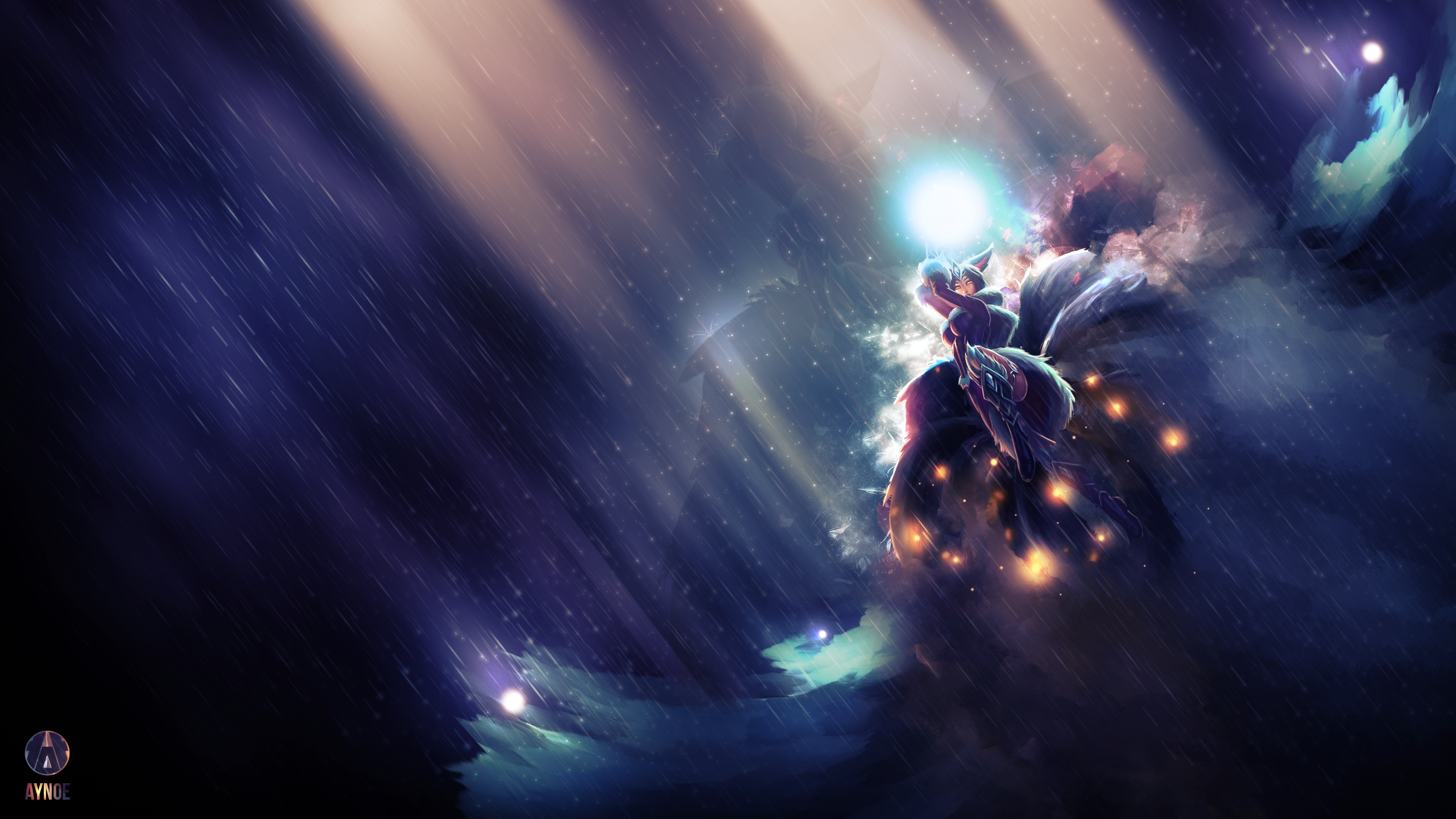 Anime Ahri League of Legends Wallpaper by Kairuichan on DeviantArt
