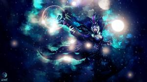 Ravenborn Leblanc ~ League of Legends - Wallpaper