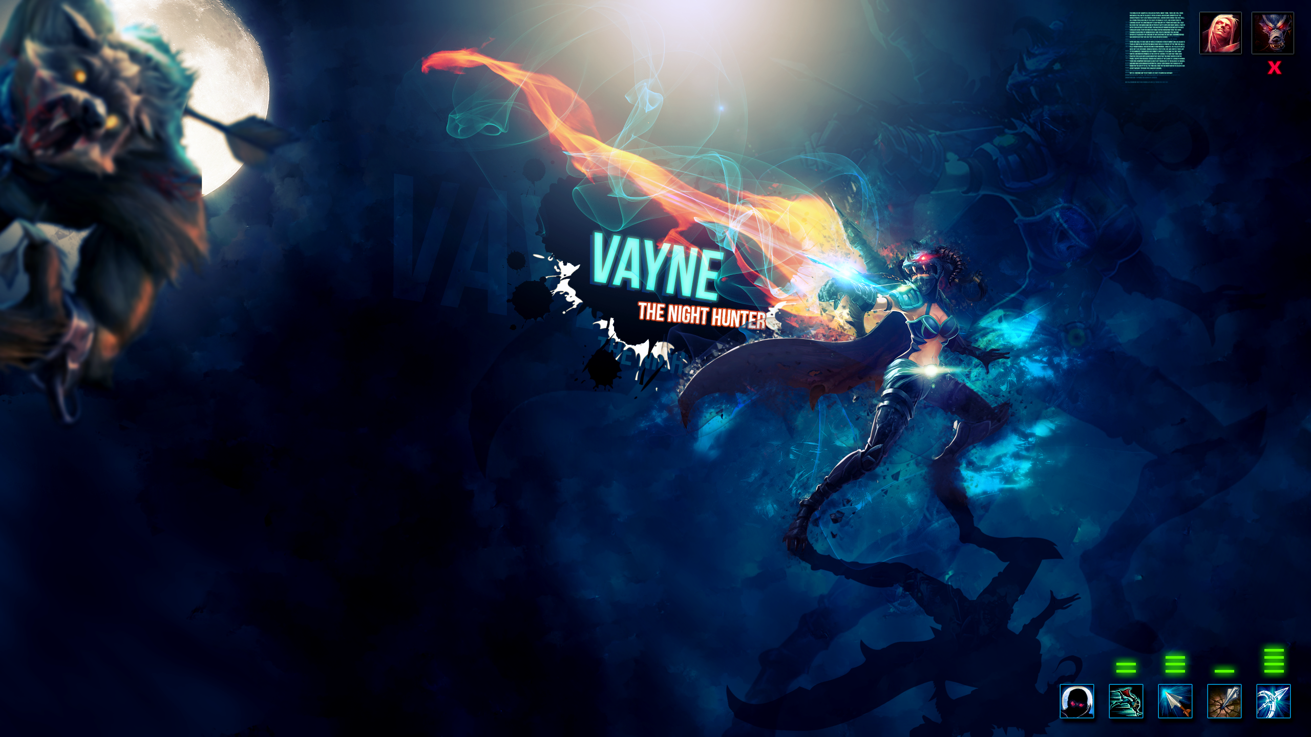 Wallpaper HD - Vayne - League of Legends by Aynoe on ...