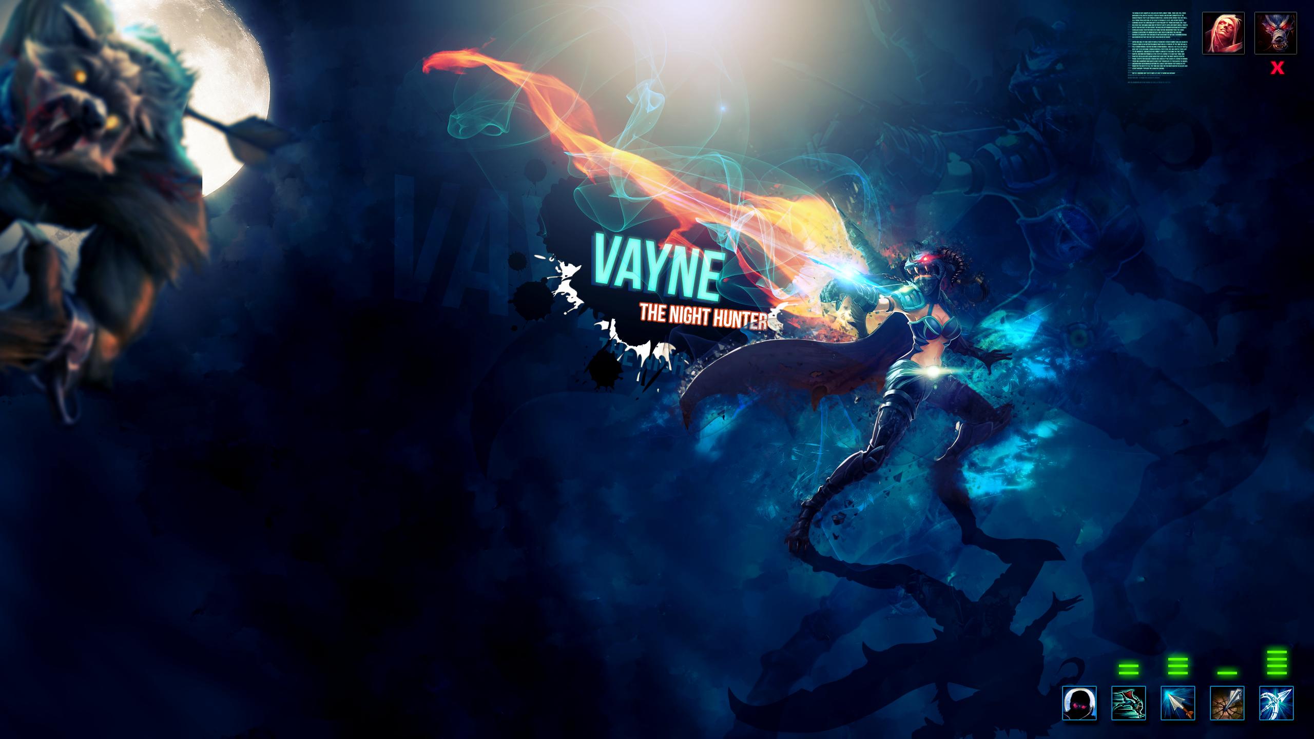 Wallpaper HD - Vayne - League of Legends by Aynoe on ...