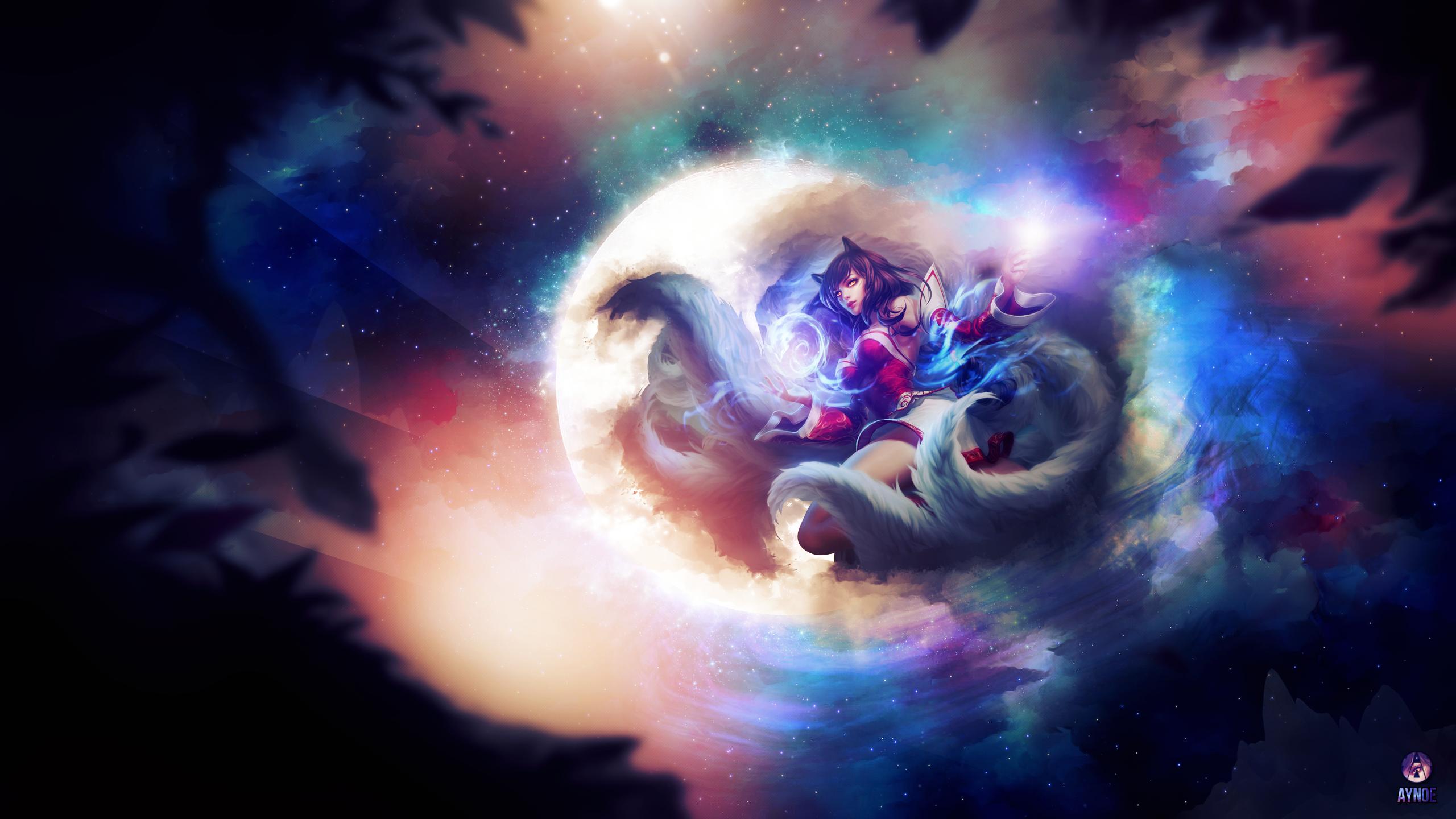 Ahri League Of Legends Wallpaper By Aynoe On Deviantart
