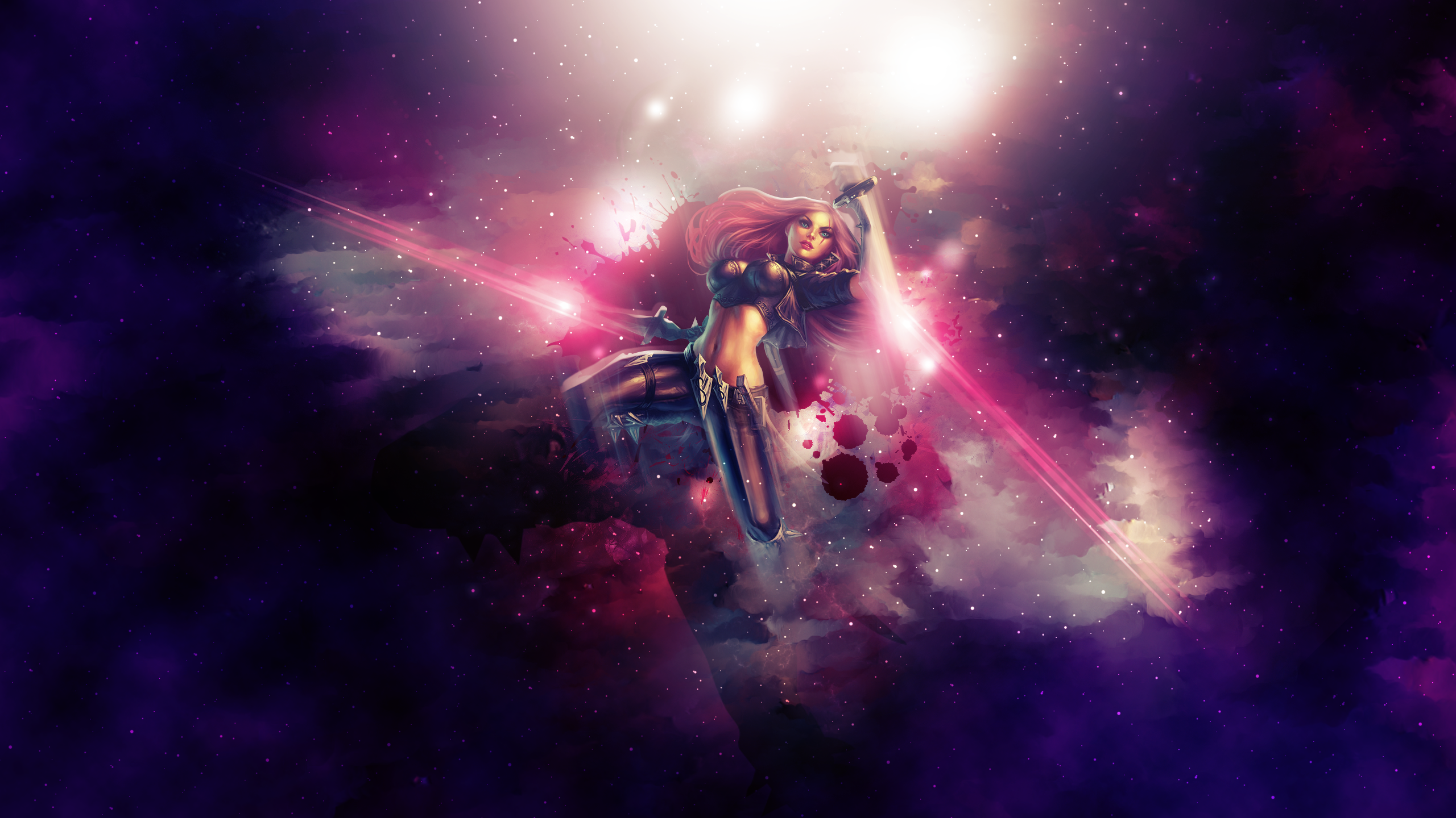 Katarina league of legends wallpaper by aynoe on for Deviantart wallpaper