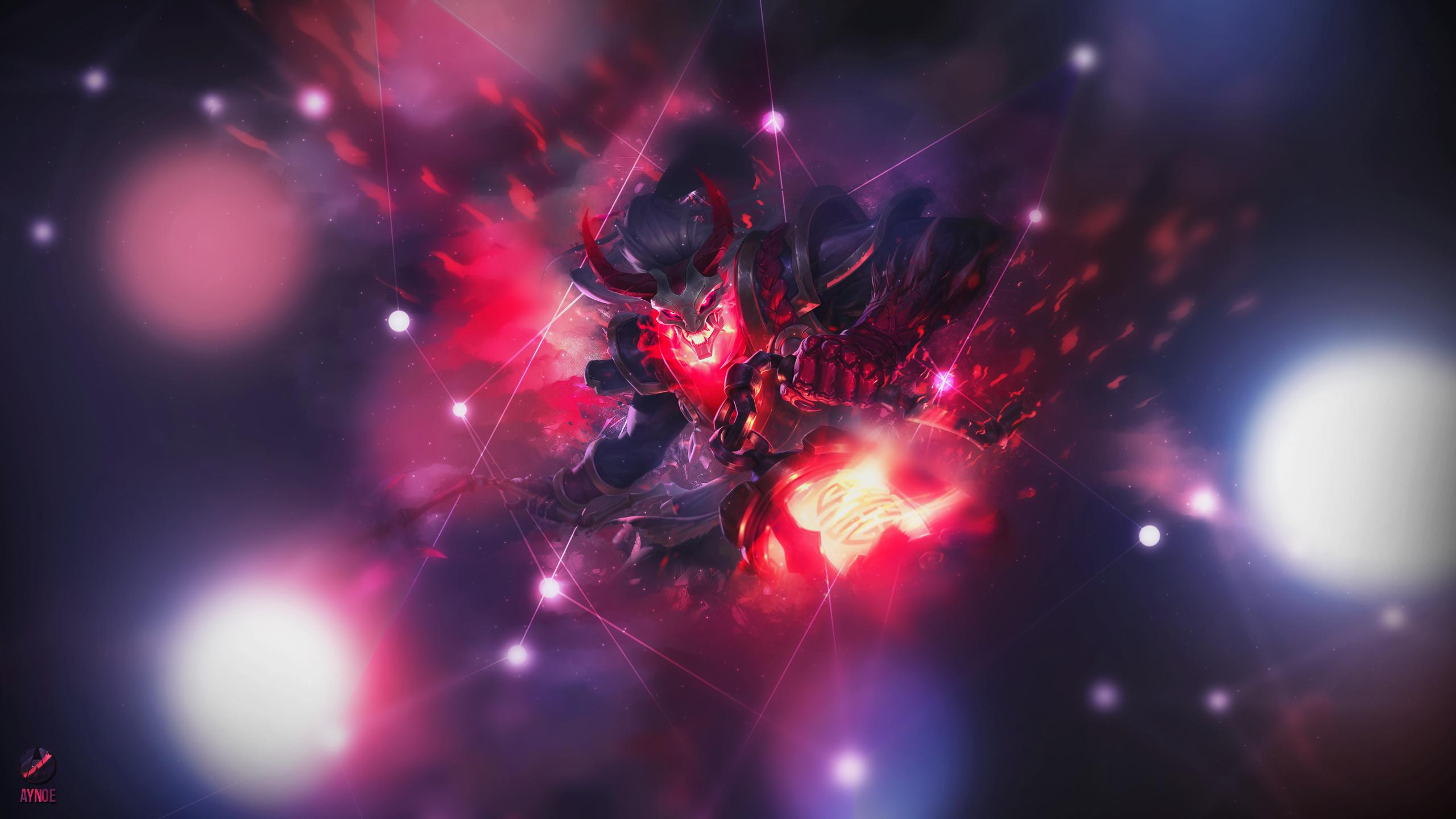Thresh Blood Moon ~ League of legends - Wallpaper by Aynoe ...
