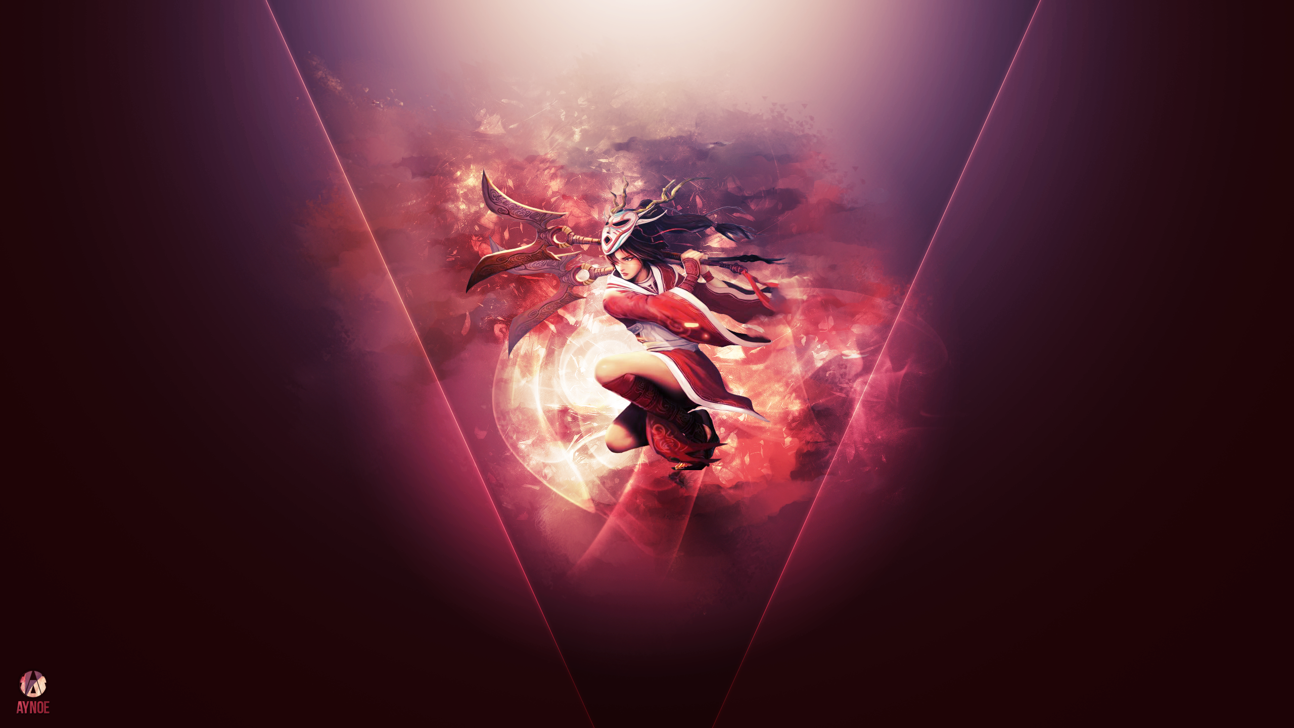 Akali Blood Moon League Of Legends Wallpaper By Aynoe On
