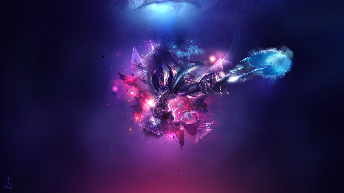 galactic azir league of legends wallpaper by aynoe on deviantart