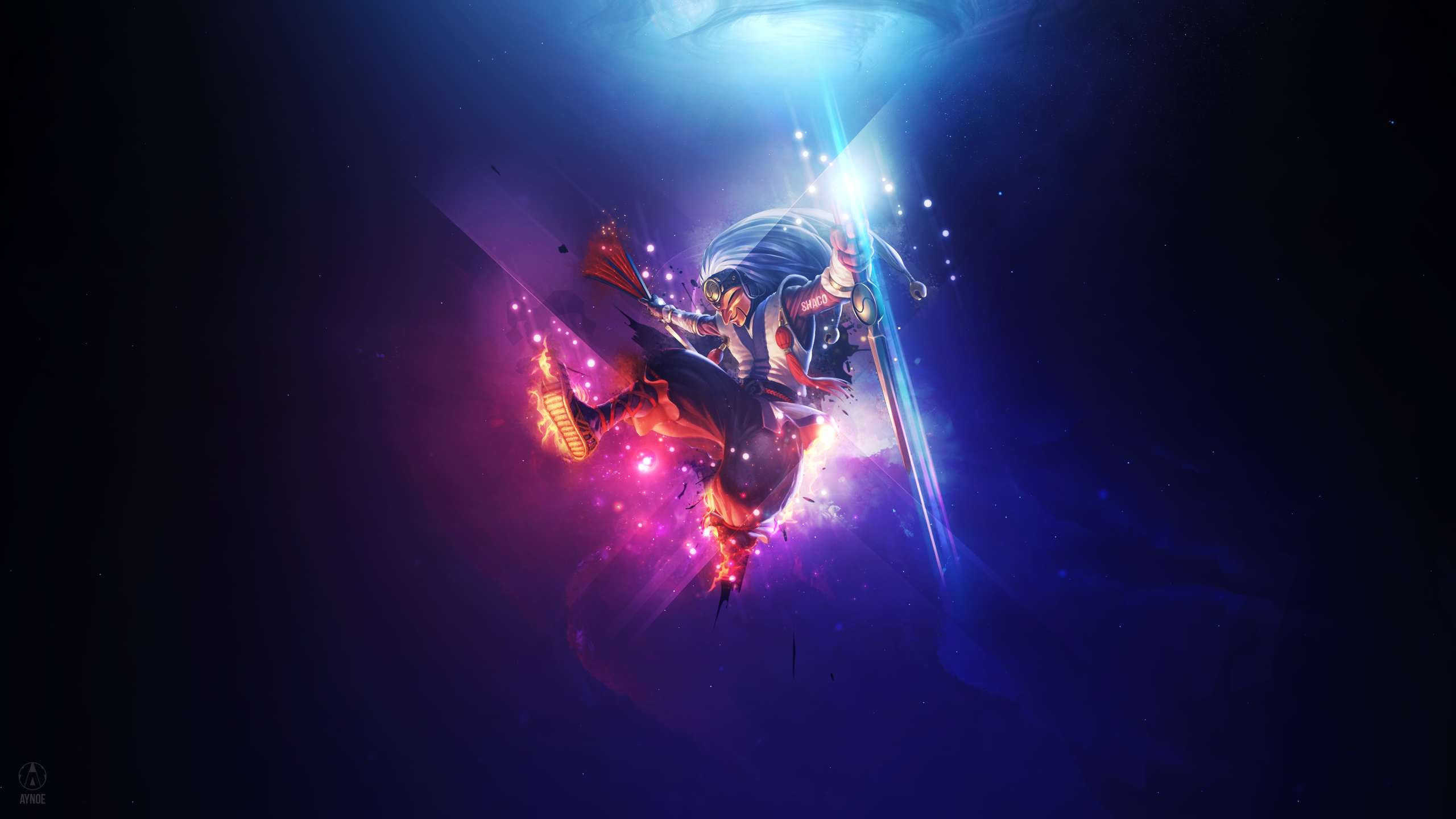 Masked Shaco League Of Legends Wallpaper By Aynoe On