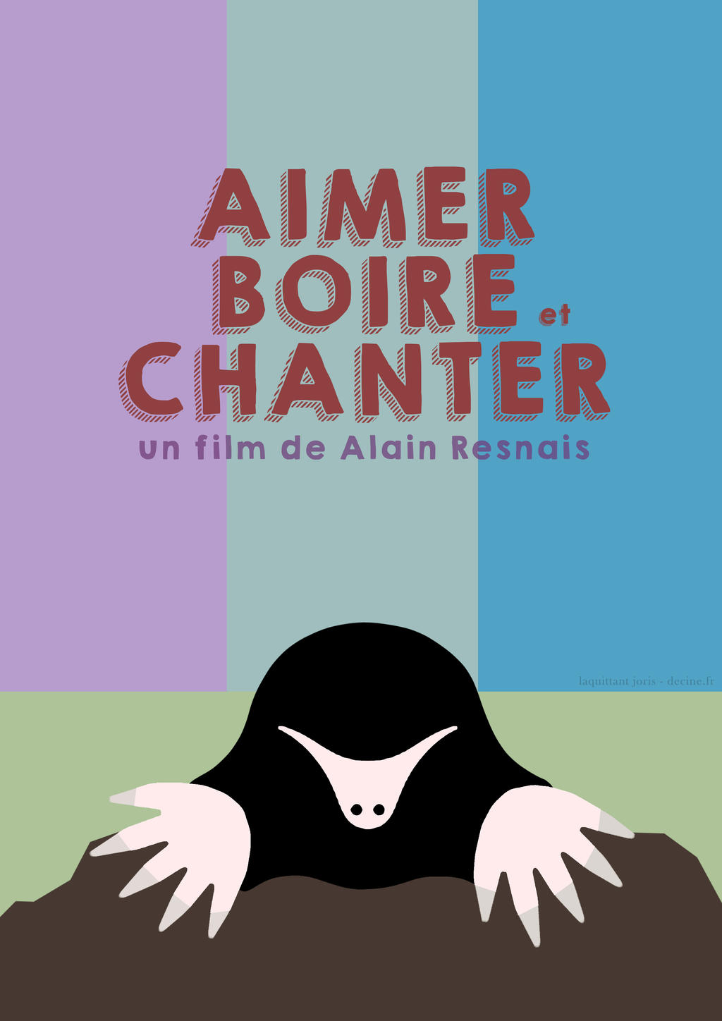 Aimer boire et chanter affiche minimaliste by for Affiche minimaliste