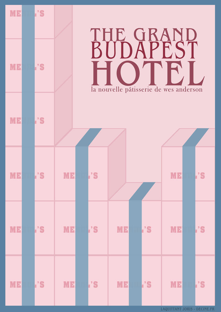 The grand budapest hotel poster minimalist by for Minimalist hotel