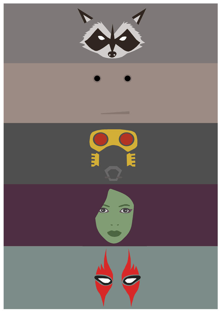 Guardians of the Galaxy - Poster Minimalist by JorisLaquittant