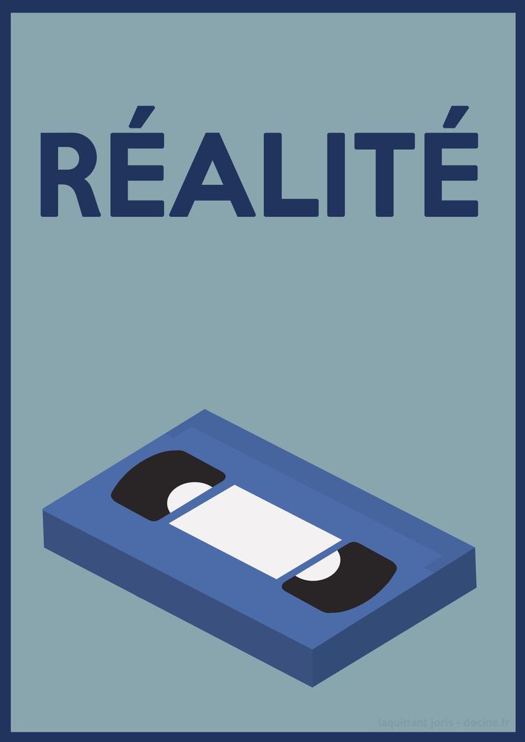 Realite affiche minimaliste by jorislaquittant on deviantart for Affiche minimaliste