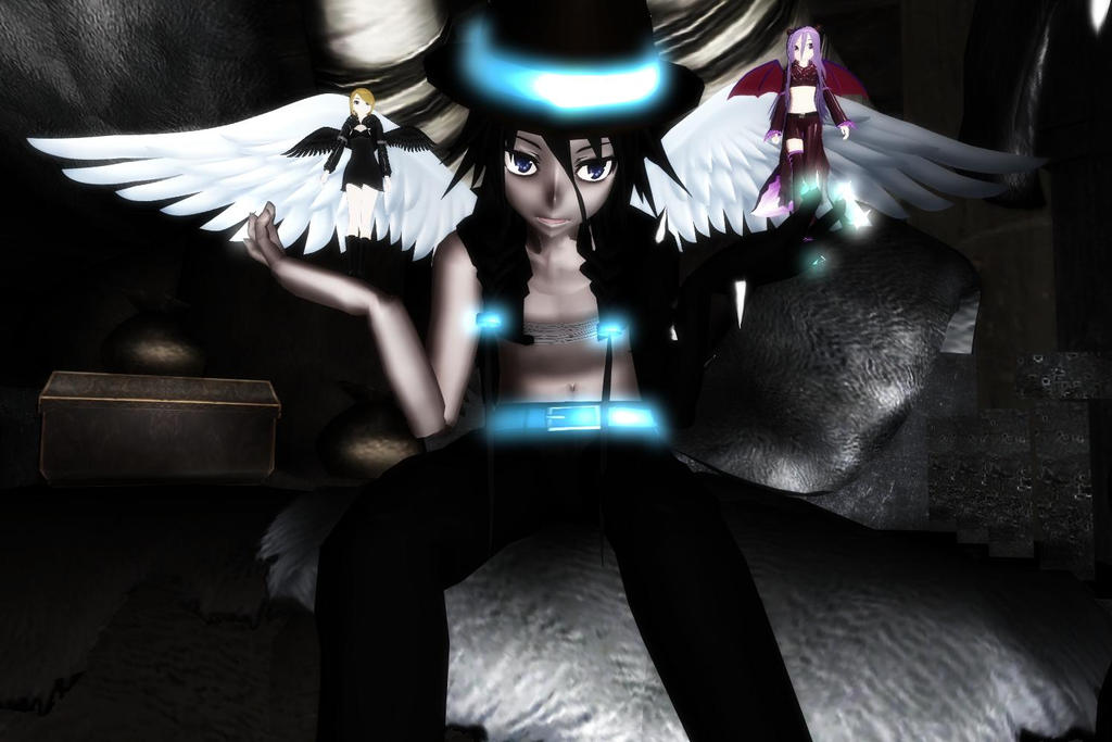 Invitation {MMD-Angels-Vs-Demons group promotion} by Mysticinthedark4321