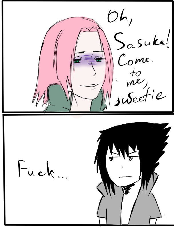 The real reaction to the appearance of Sasuke. by MegaPingvinka