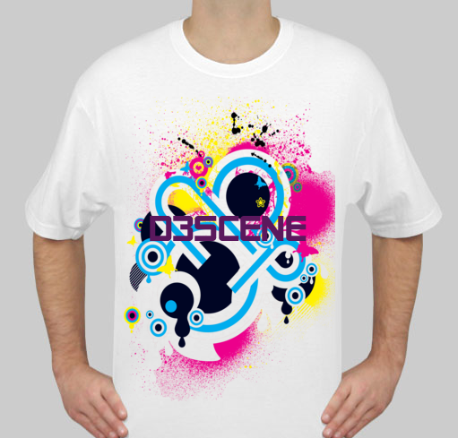 d3scene t shirt design white f by ezacx on deviantart