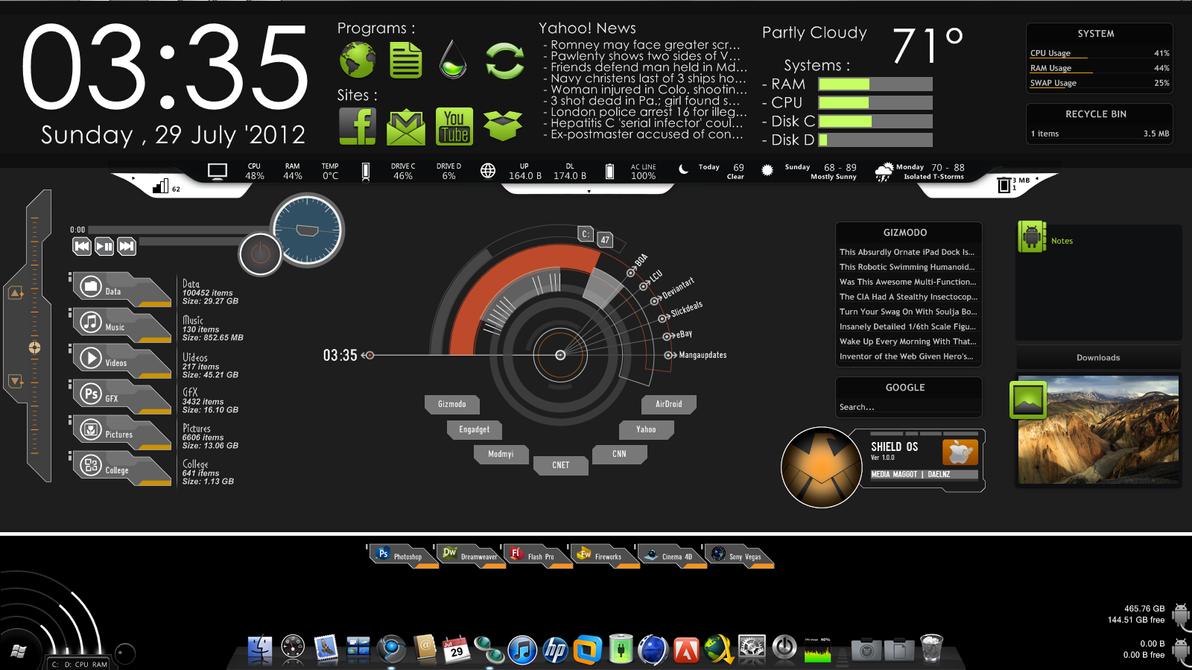 Advanced PC HUD Desktop Integration|Best PC Layout by eZaCx