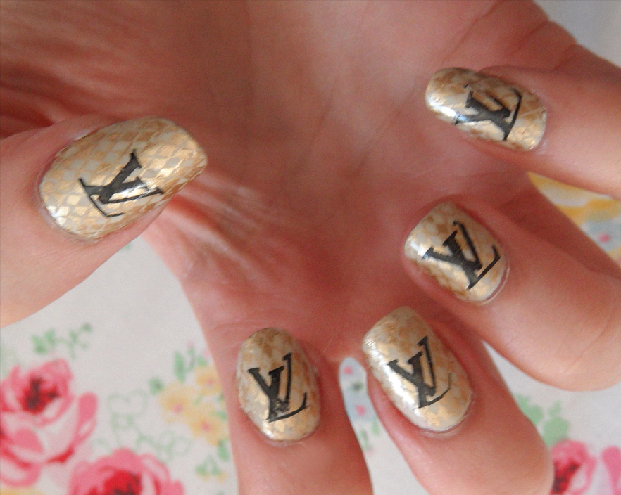 Louis Vuitton manicure by MissKellyLouise on DeviantArt