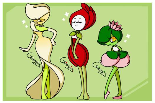 :[Adoptables] Cuphead flower ocs [4]:
