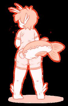 Catfish Girl Tail Butt