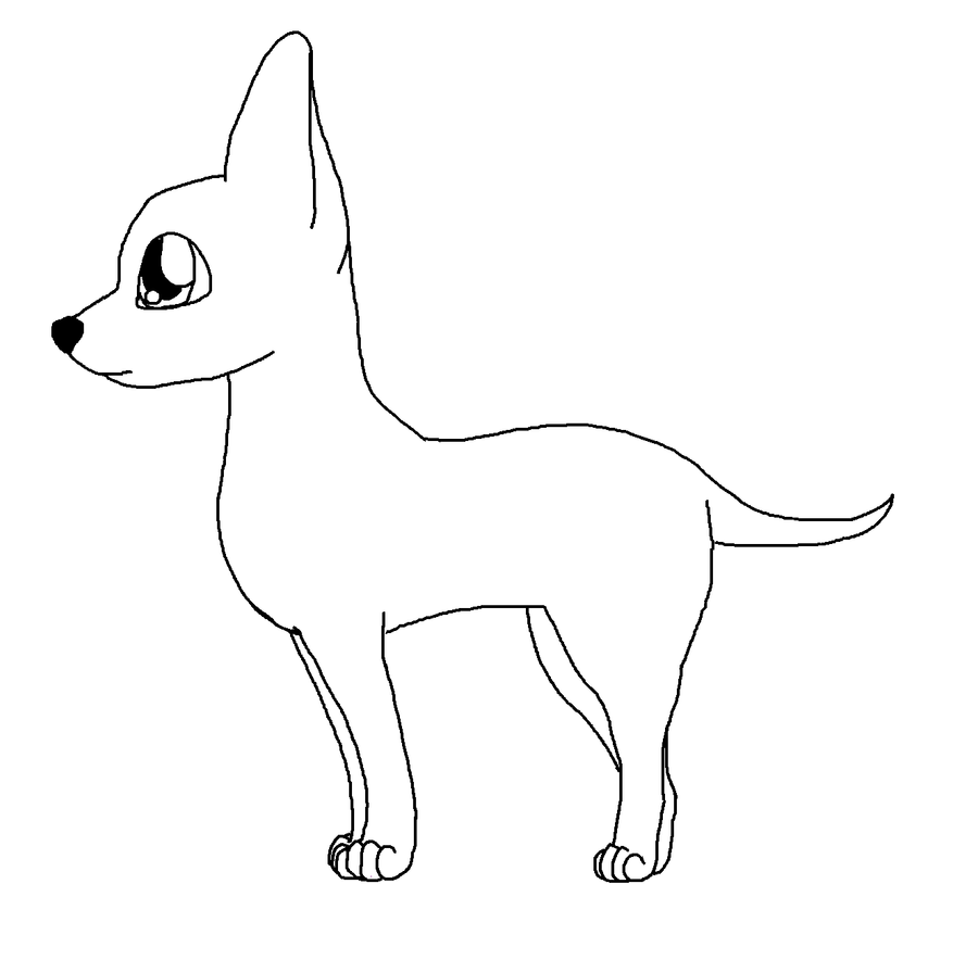 Chihuahua base by wolflovermarine on deviantart for Chihuahua coloring pages