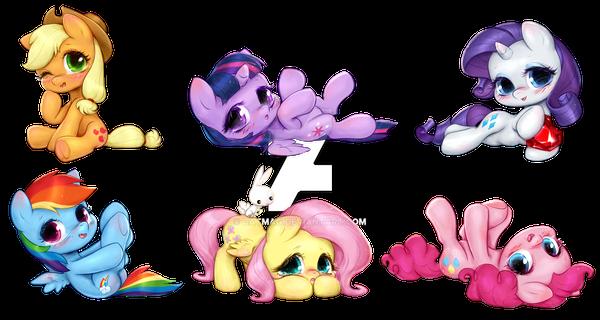 My Little Pony Mane 6 Chibi by CatMag