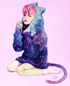 Jimin Space Cat
