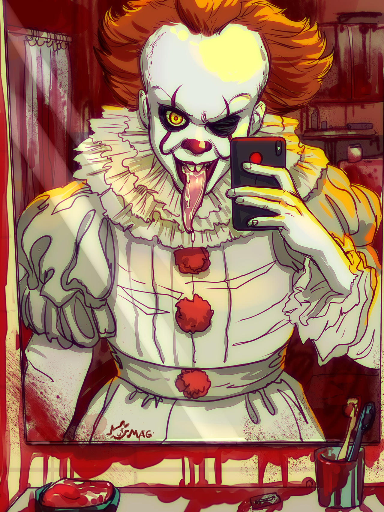 how to draw pennywise the clown 2017