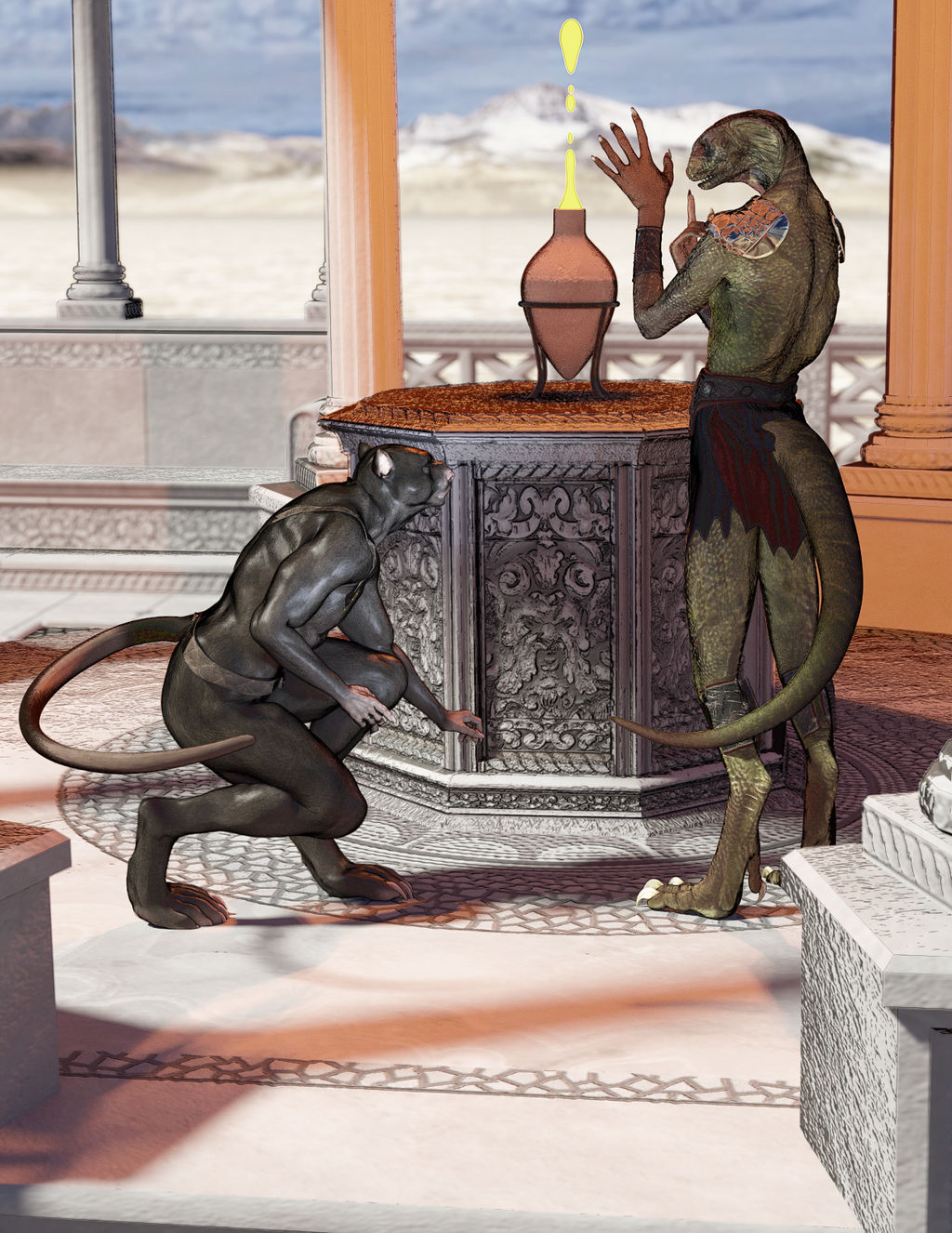 Ratman and Asaatthi Semicolored by Willbear