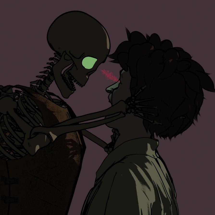 Feeding Skeleton by Willbear