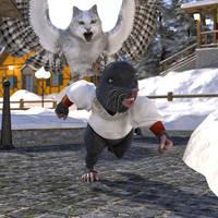 Mole Town Meowl by Willbear