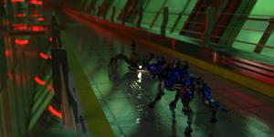 Robot confrontation