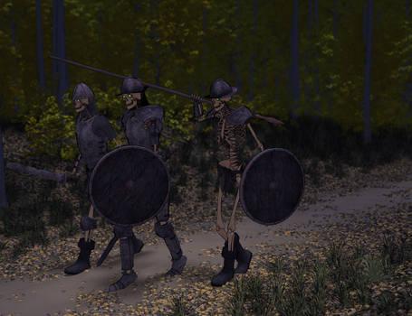 Marching Skeletons