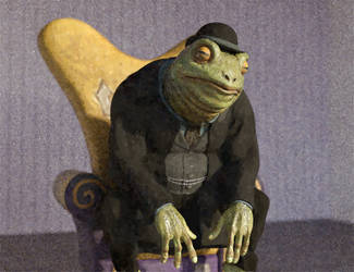 Victorian Frog in a chair