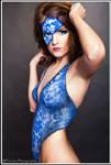 lace mask blue