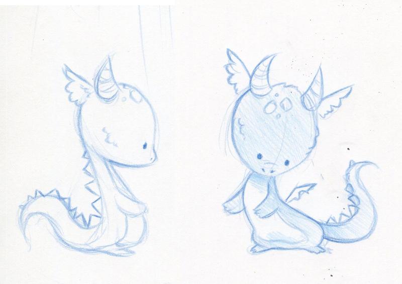 Baby Dragon Sketches By Danieru Chan ...