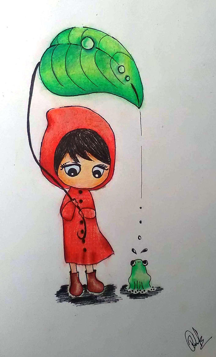 In the rain by Ritika-B