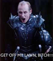 Viktor loves his lawn by Kez89