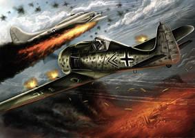 FW190 Butcherbird by vincizhang1990